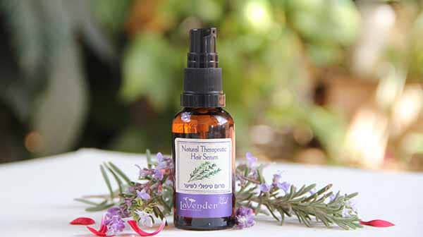 blend of all natural oils for hair treatment from lavender all natural cosmetics
