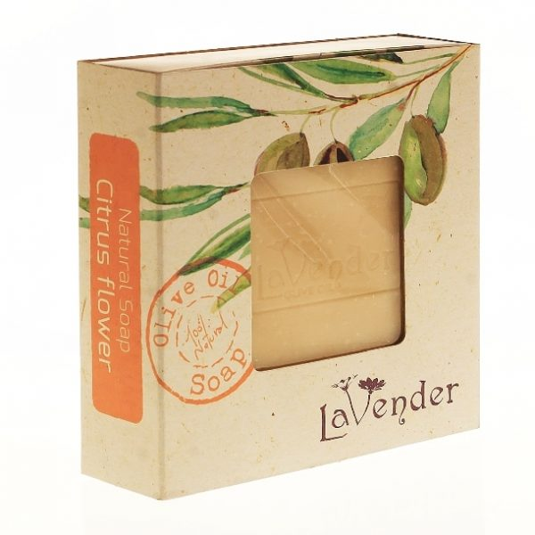 Natural Citrus Flower Olive Oil Soap made by the cold method, pampering with a caressing touch and an intoxicating scent.