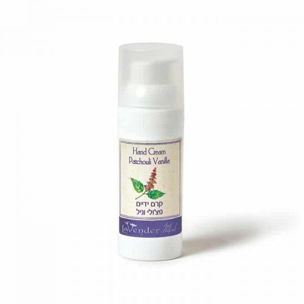 Patchouli vanilla hand cream - Lavender all natural cosmetics
