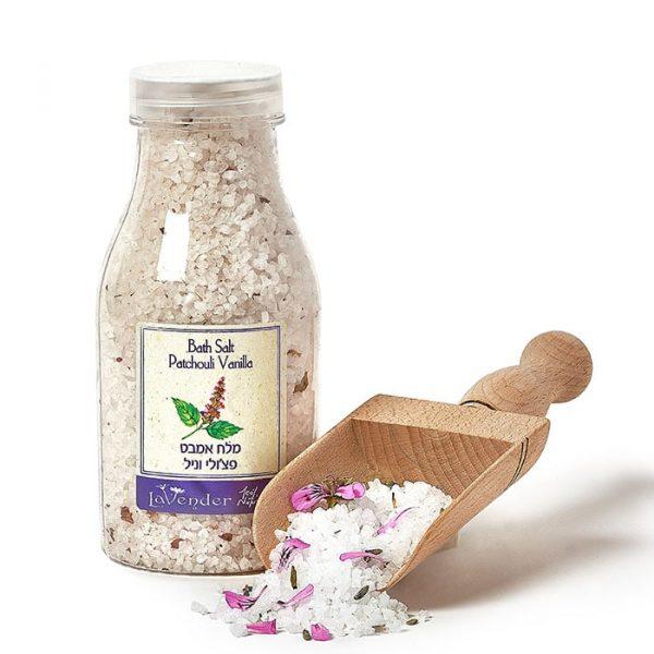 Sensual Bath Salt Patchouli Vanilla by lavender's cosmetics natural bath salt series