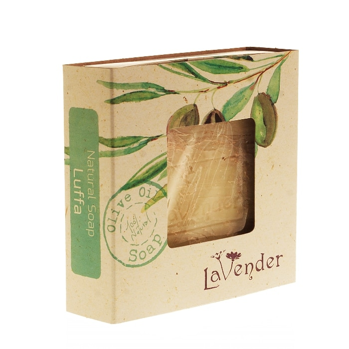 Olive Oil Soap With Natural Loofah by lavender cosmetics natural Castile Soap series.