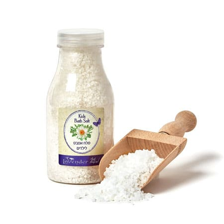 Our natural bath salt makes children feel comfortable