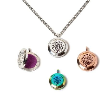 A pendant for carrying aromatic oils in different sizes and colors