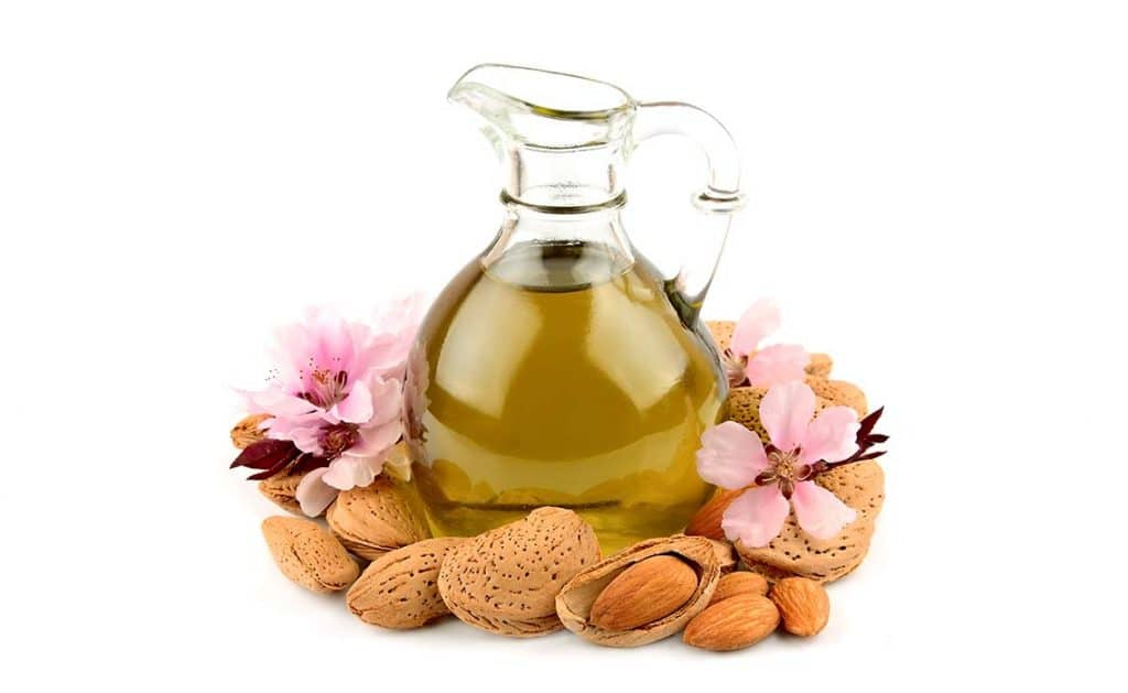 sweet almond oil - lavender all natural cosmetics
