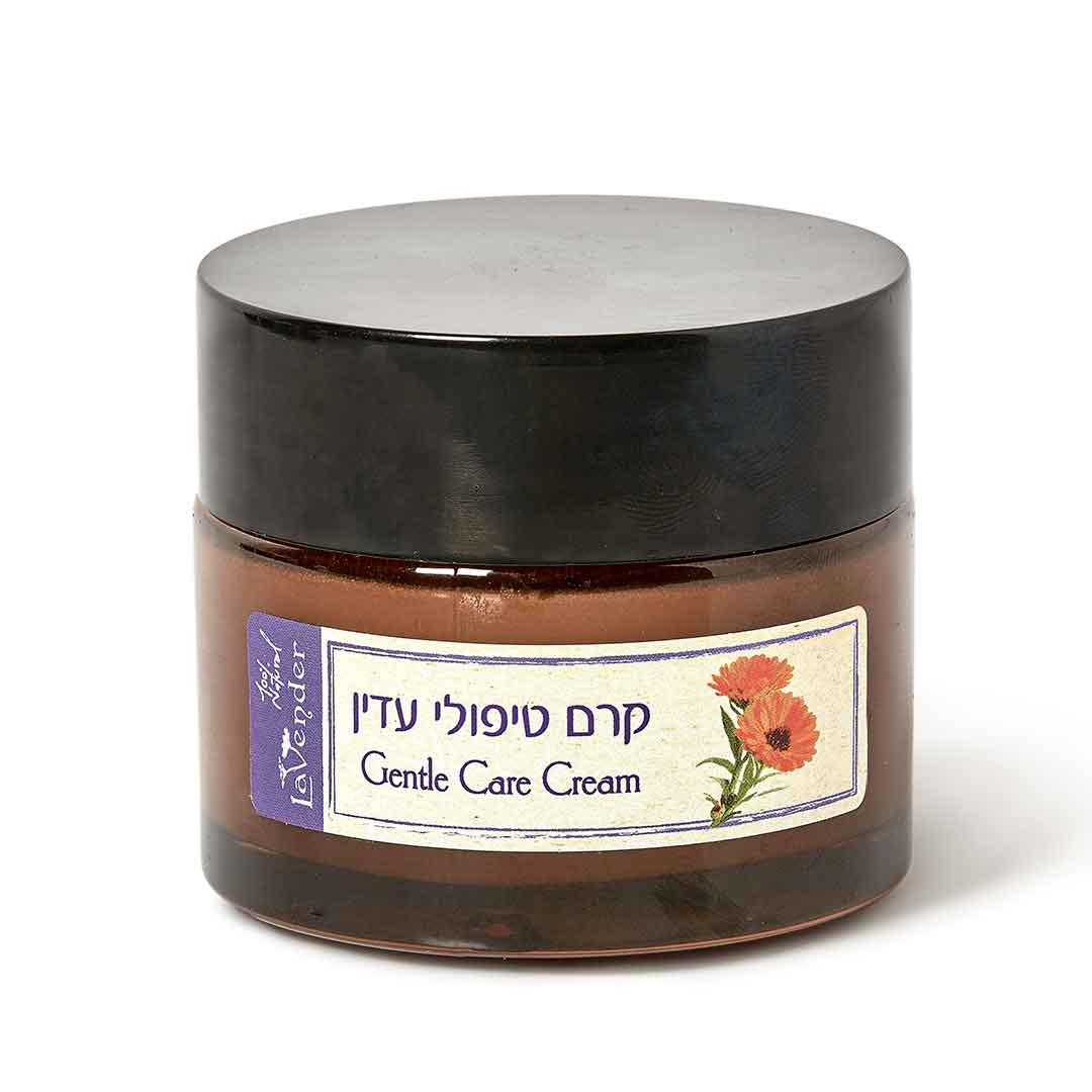 Gentle Care cream based on Shea butter that will help to heal and relieve rushed and irritated skin.