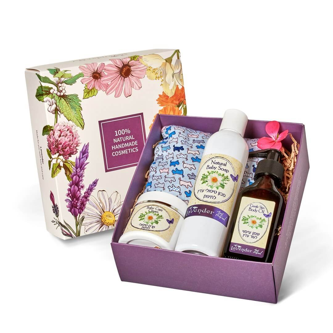 new born gentle care gift set - lavender natural cosmetic