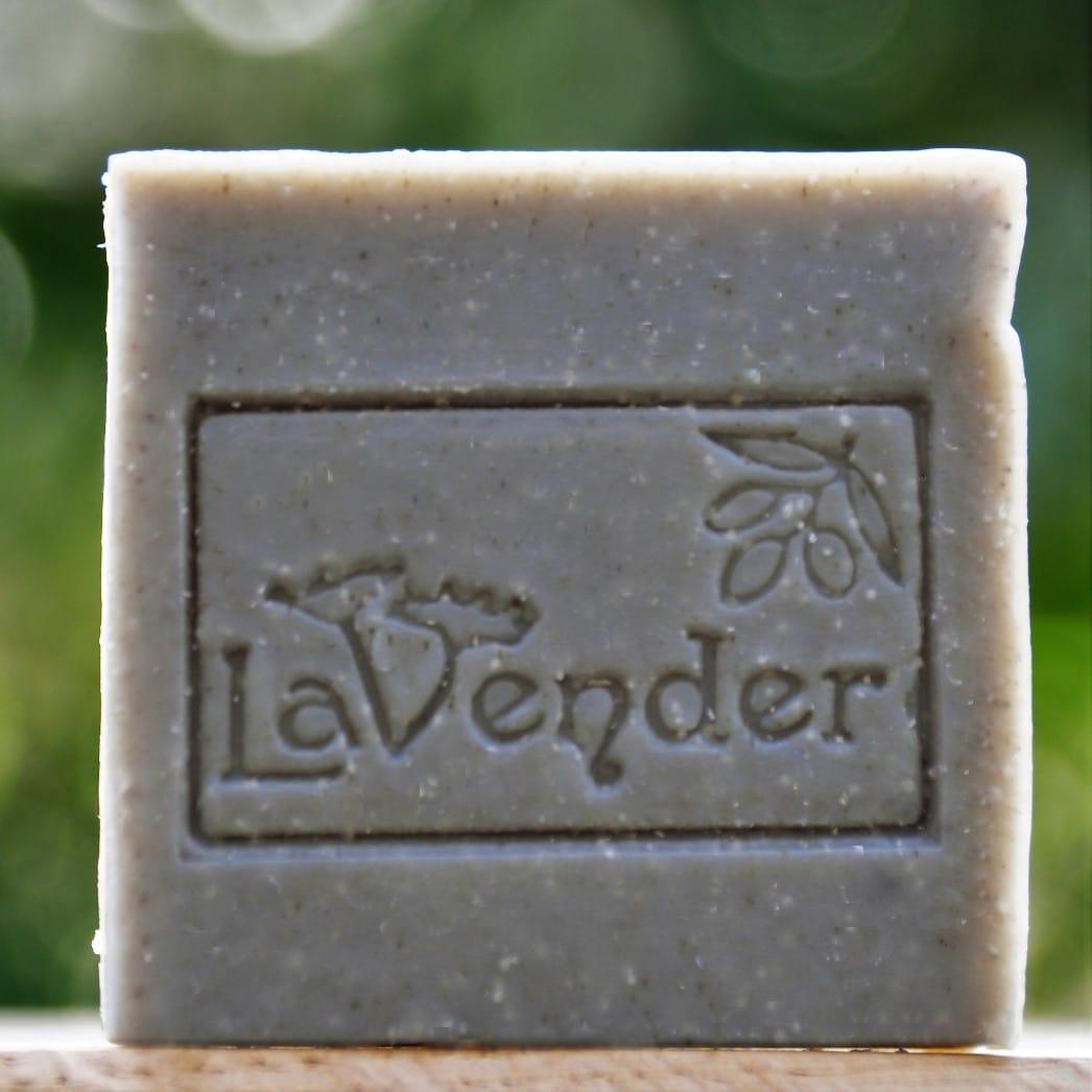 bar soap deadsea mud - lavender all natural cosmetics