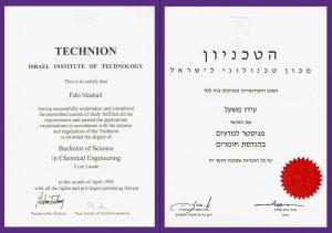 Material eng. Msc. ido mashall diploma