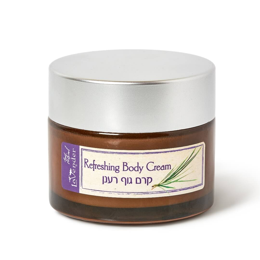 natural body cream refreshing lemon grass, natural body butter, lavender all natural cosmetics