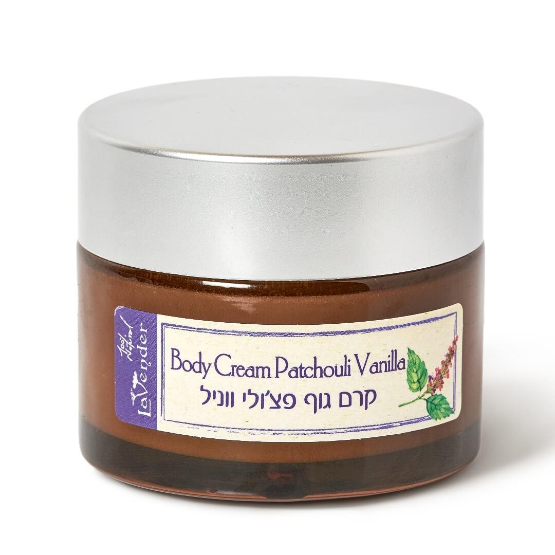 natural body cream patchouli vanilla
