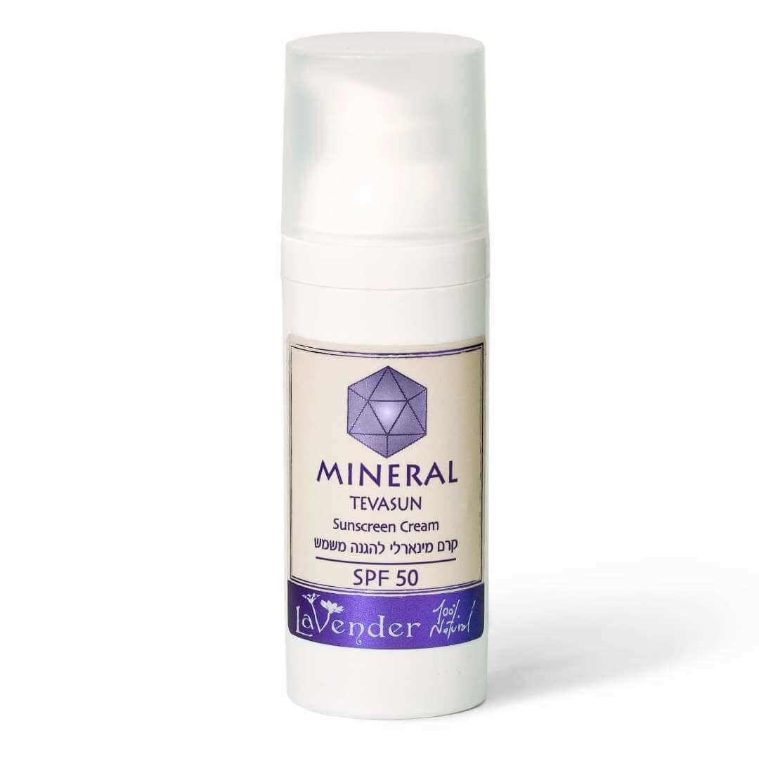 natural, nimeral sunscreen SPF50 - lavender all natural cosmetics