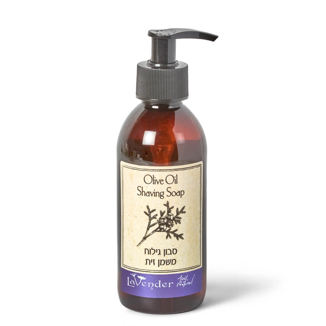 natural shaving soap olive oil - lavender all natural cosmetics