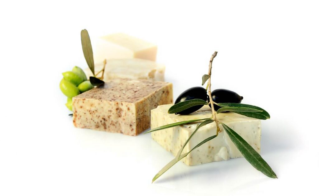natural bar soap from olive oil - lavender all natural cosmetics