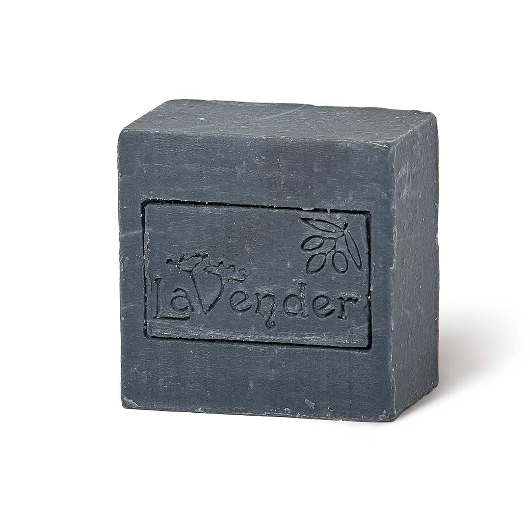 carbon black soap for face and body - lavender all natural cosmetics