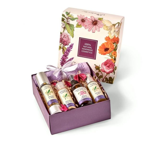 facial refreshing gift box - lavender all natural cosmetics