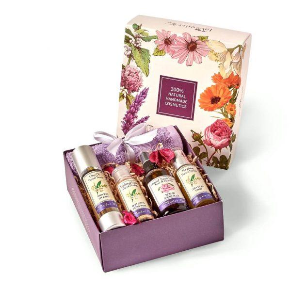facial refreshing gift box - lavender all natural cosmetics