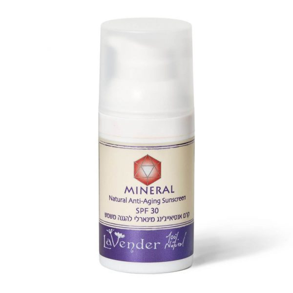 Mineral Anti-Aging Face SunScreen Cream SPF30 - lavender natural cosmetics